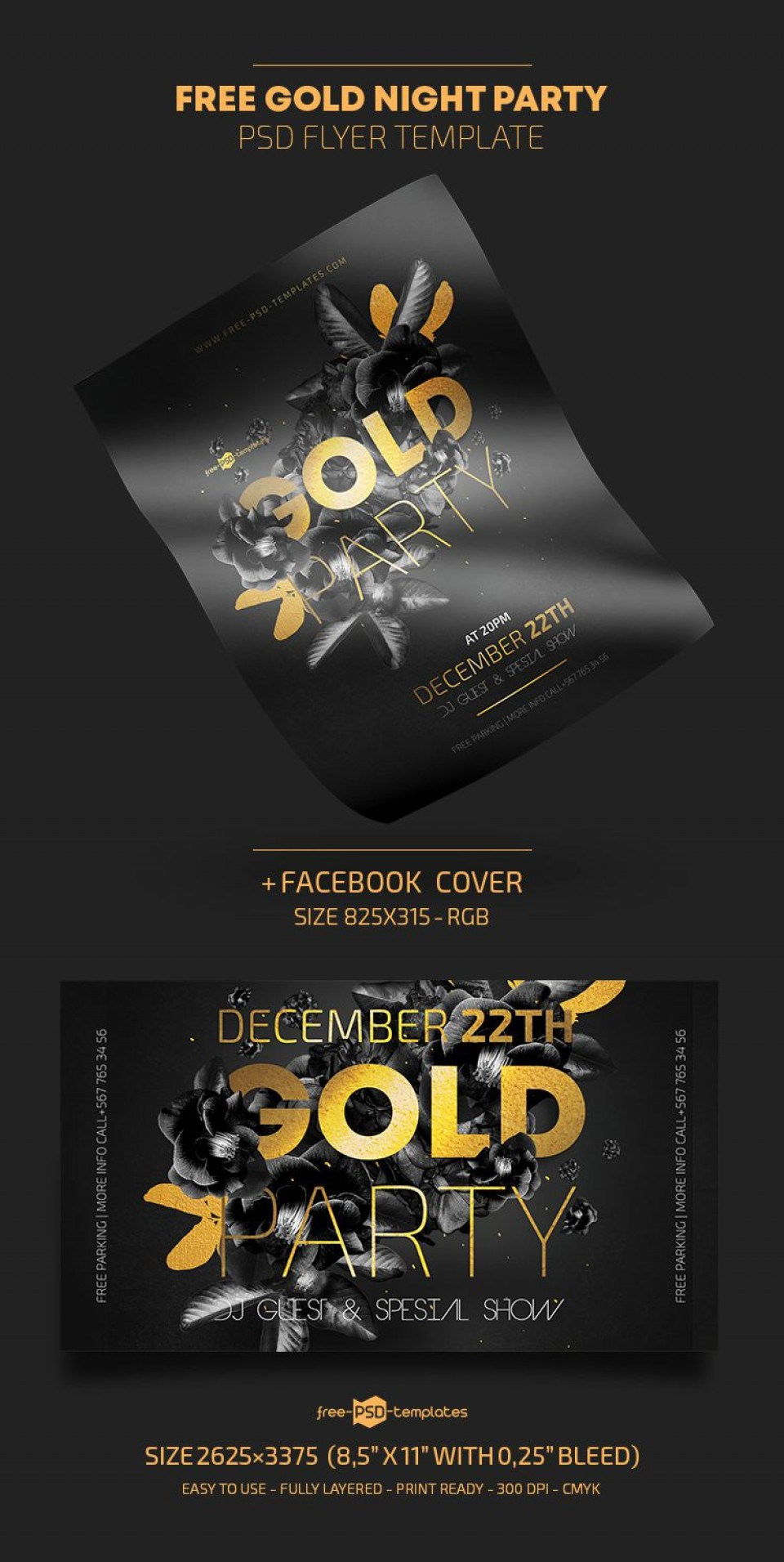 009 Marvelou Free Party Flyer Template For Photoshop Picture  Pool Psd Download960