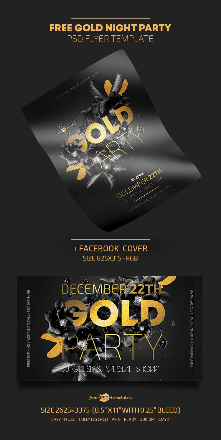 009 Marvelou Free Party Flyer Template For Photoshop Picture  Pool Psd DownloadFull