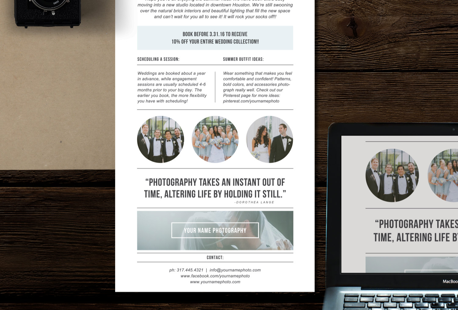 009 Marvelou Free Photography Marketing Template High Resolution  Templates SeniorFull