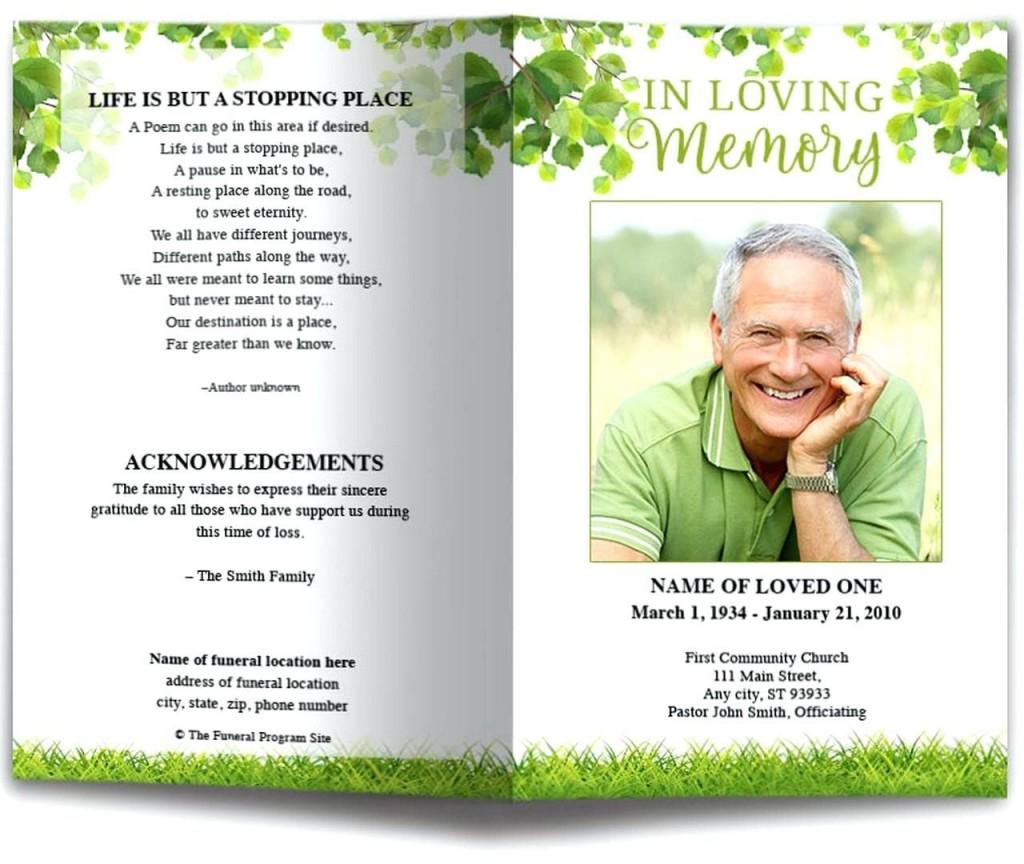 009 Marvelou Funeral Program Template Free Example  Online Printable Download PublisherLarge