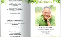 009 Marvelou Funeral Program Template Free Example  Online Printable Download Publisher