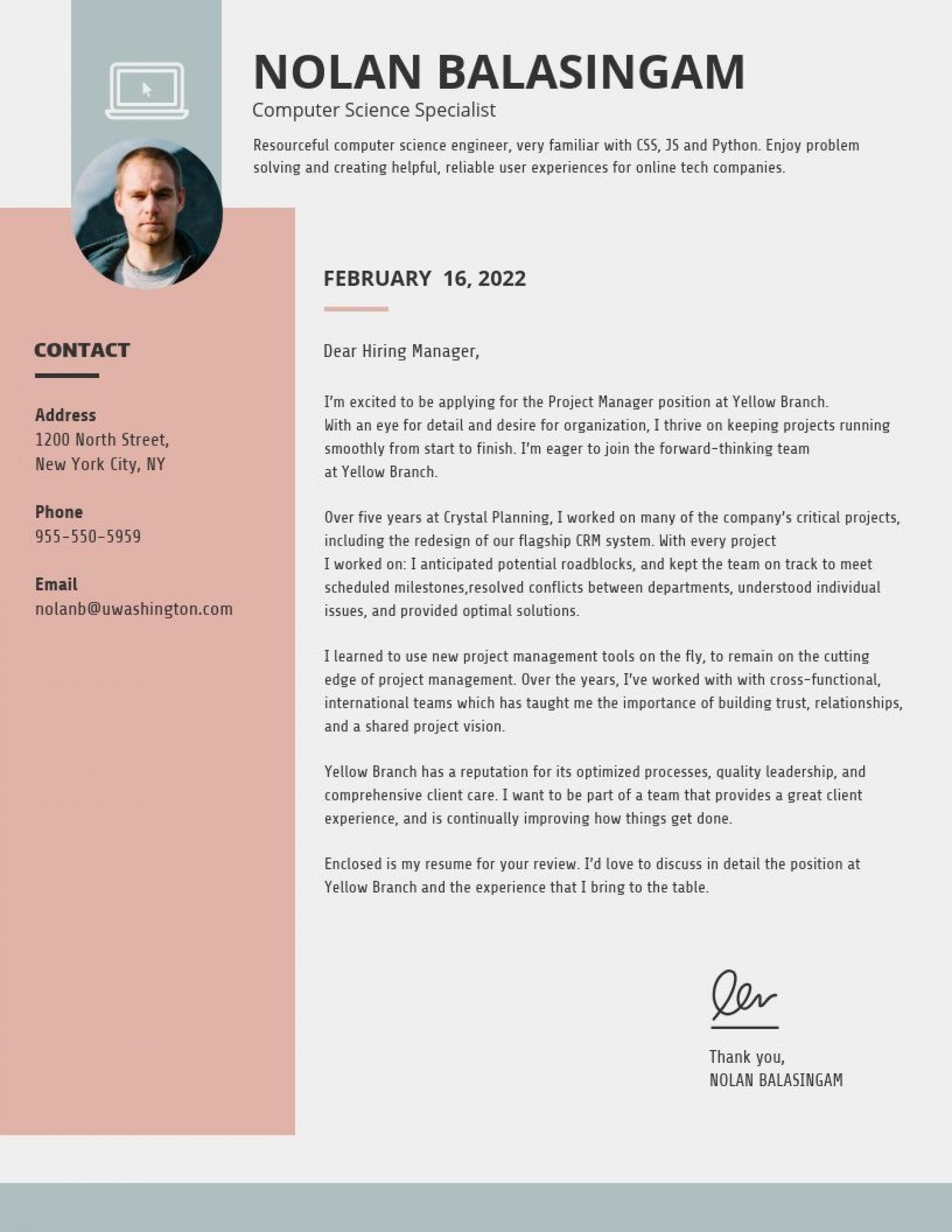 009 Marvelou Modern Cover Letter Example Inspiration  2019 Sample1920