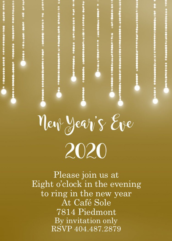 009 Marvelou New Year Eve Invitation Template Photo  Party Free WordLarge