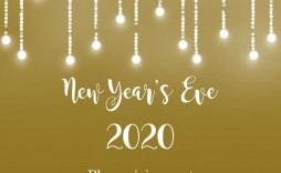 009 Marvelou New Year Eve Invitation Template Photo  Party Free Word