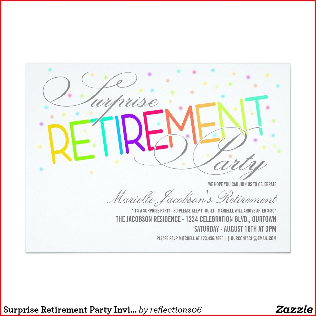 009 Marvelou Retirement Farewell Party Invitation Template Free Picture Full