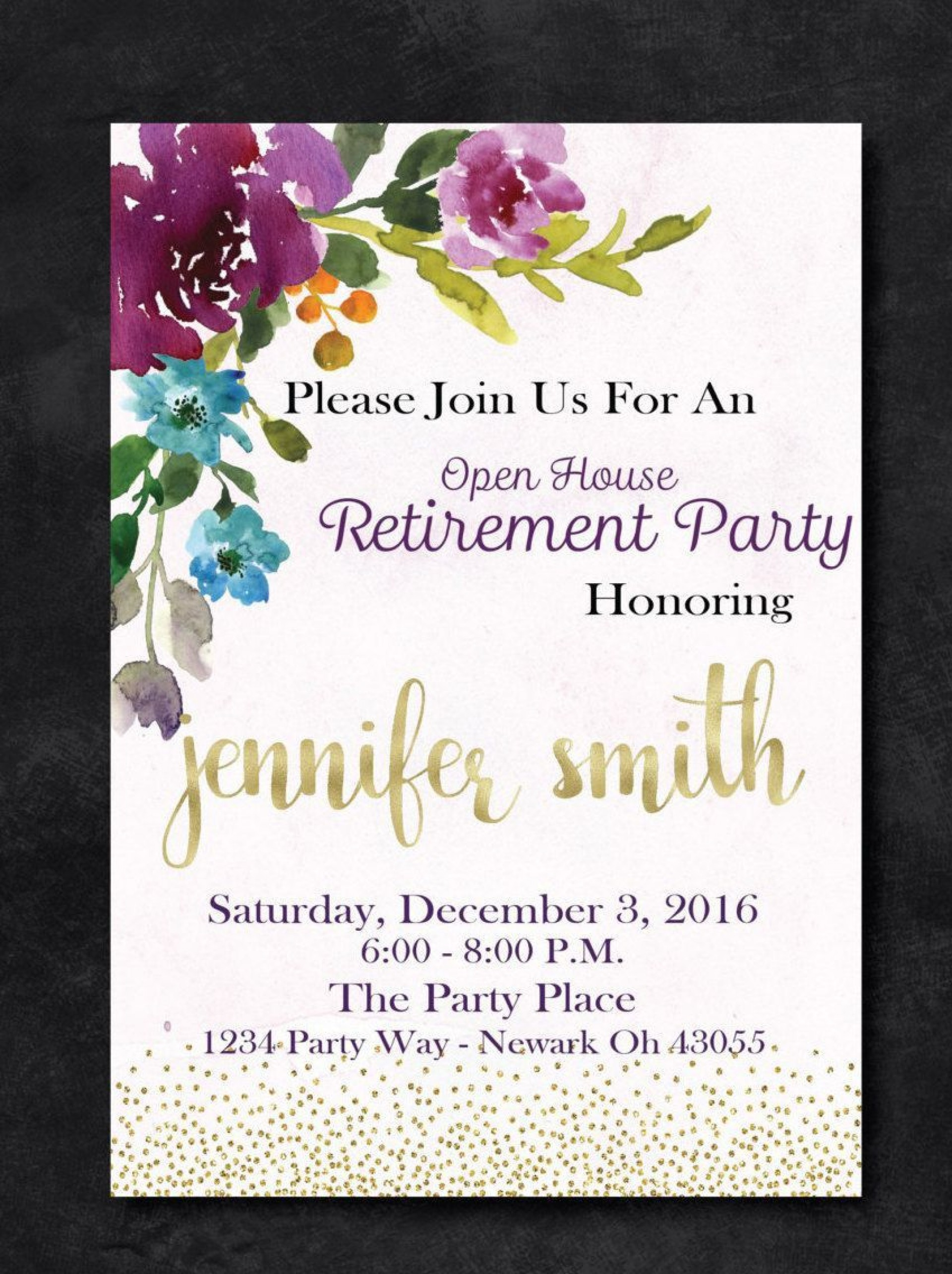 009 Marvelou Retirement Party Invitation Template Free High Definition  M Word1920