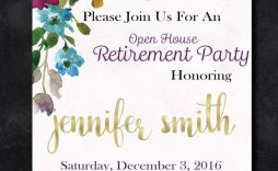 009 Marvelou Retirement Party Invitation Template Free High Definition  M Word
