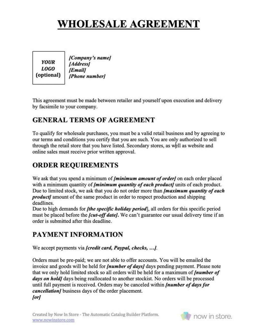 009 Marvelou Term Of Agreement Template Design  Service Contract Busines UkLarge