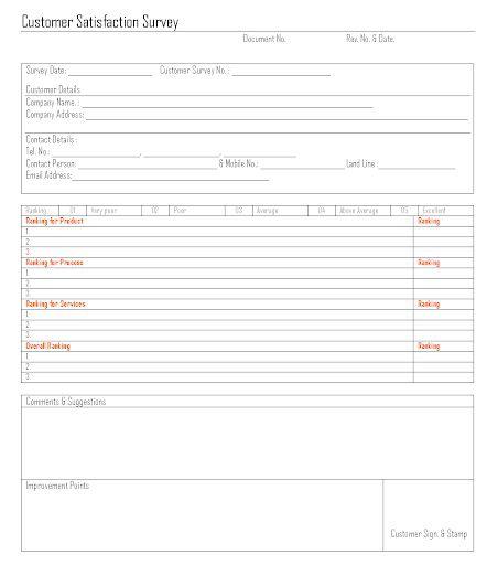 009 Outstanding Customer Satisfaction Survey Template Word Inspiration  Doc FormFull