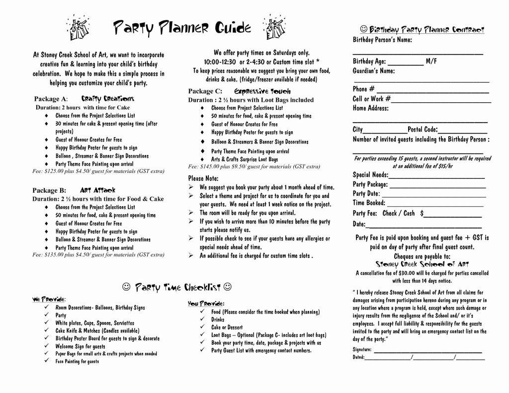 009 Outstanding Event Planner Contract Template Photo  Free Download PlanningFull