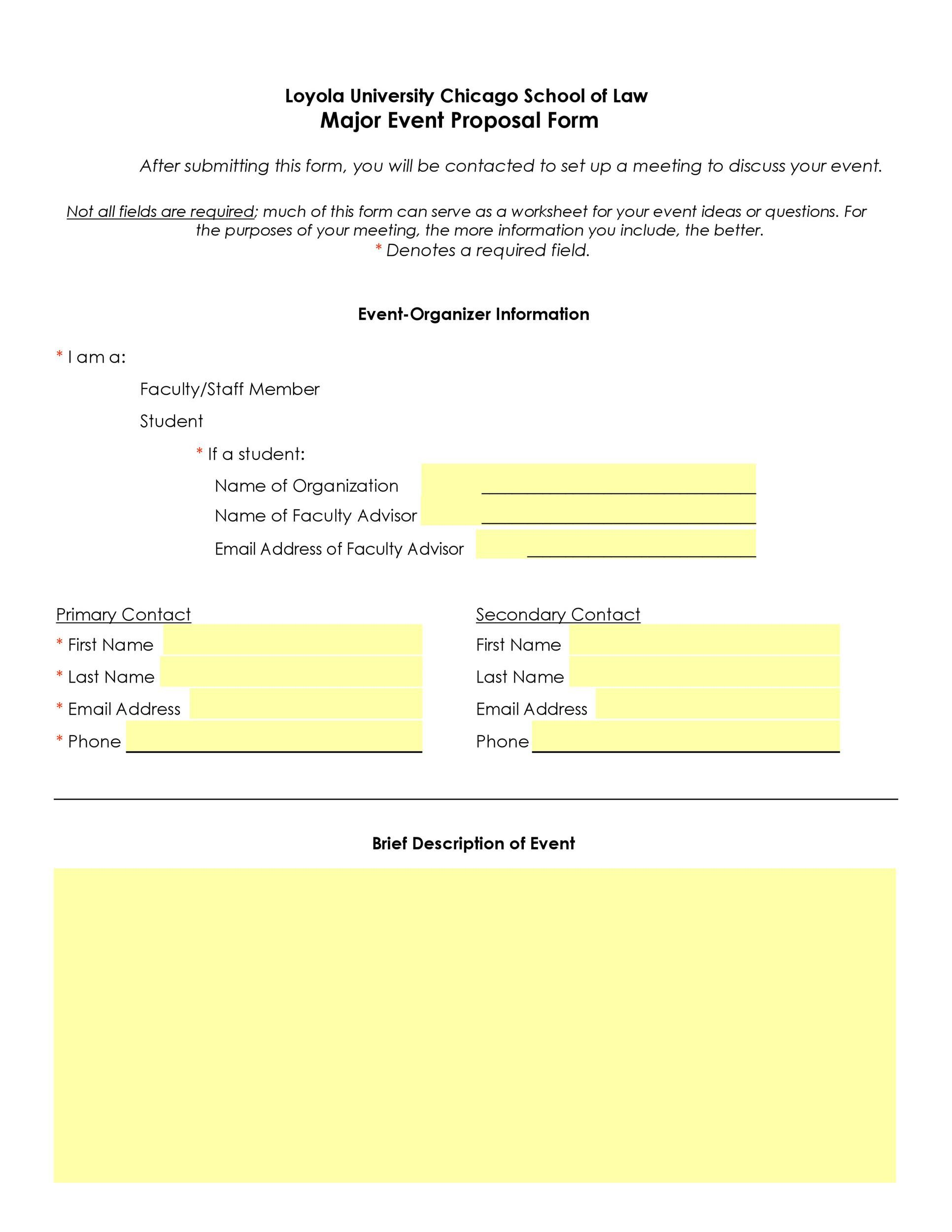 009 Outstanding Event Planning Proposal Template Image  Example Pdf WordFull