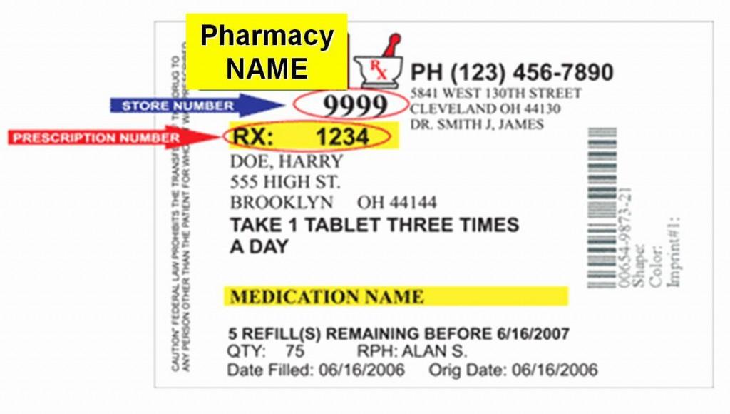 009 Outstanding Fake Prescription Bottle Label Template Highest Clarity Large