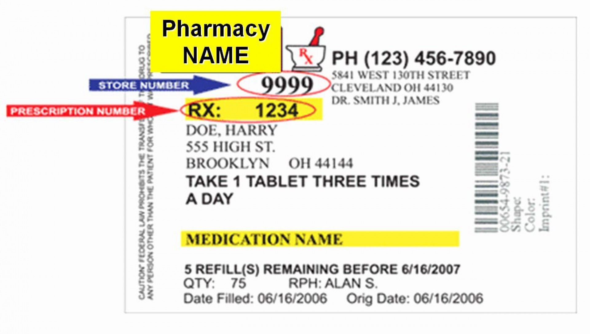 009 Outstanding Fake Prescription Bottle Label Template Highest Clarity 1920
