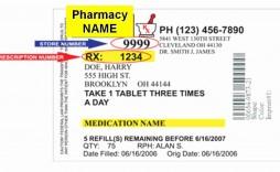 009 Outstanding Fake Prescription Bottle Label Template Highest Clarity