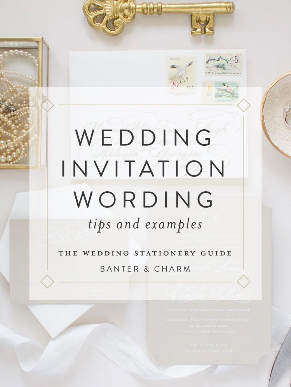 009 Outstanding Formal Wedding Invitation Wording Template Concept  TemplatesLarge