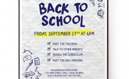 009 Outstanding Free Back To School Flyer Template Word Photo