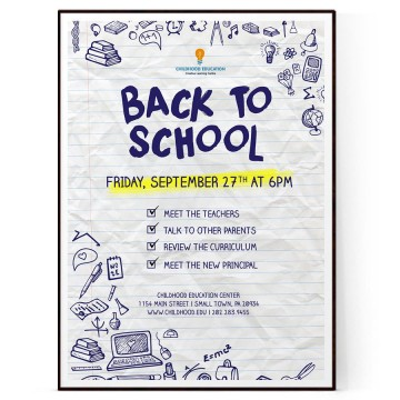 009 Outstanding Free Back To School Flyer Template Word Photo 360