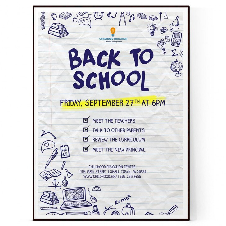 009 Outstanding Free Back To School Flyer Template Word Photo 728