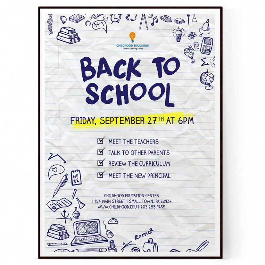 009 Outstanding Free Back To School Flyer Template Word Photo 868