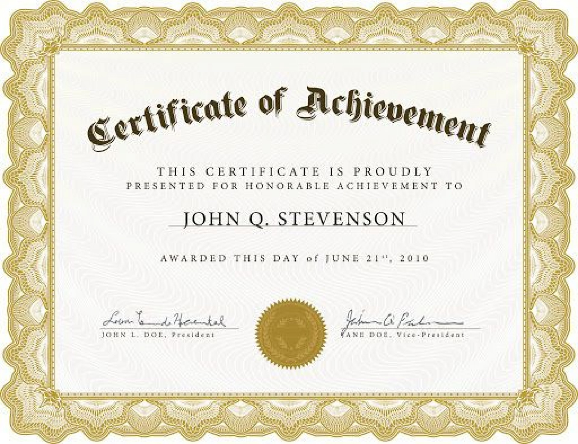 009 Outstanding Free Certificate Template Word Download Example  Of Appreciation Doc Award Border1920