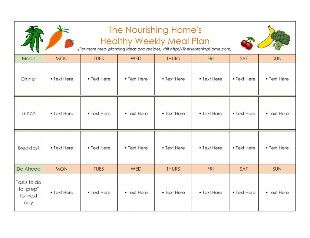 009 Outstanding Free Meal Planner Template Word Idea  Editable Weekly MonthlyLarge