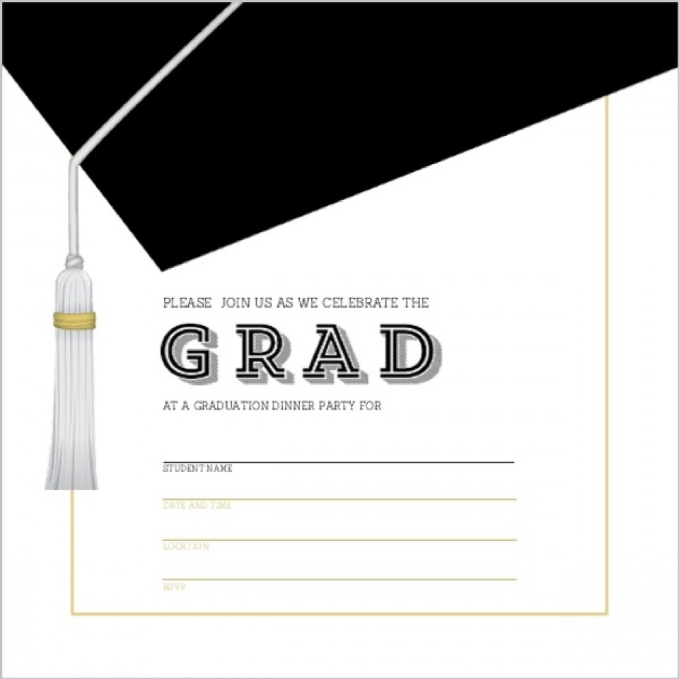 009 Outstanding Free Printable Graduation Invitation Template Example  Preschool Card 2019960