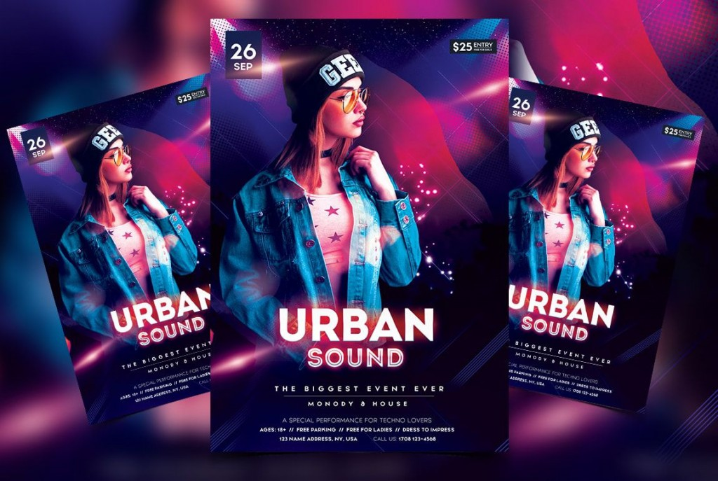 009 Outstanding Free Psd Flyer Template Design  Templates Deviantart Club Download 2018Large