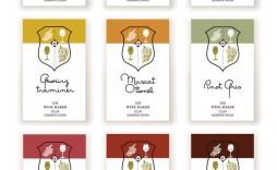 009 Outstanding Free Wine Label Template Image  Online Custom Downloadable Bottle