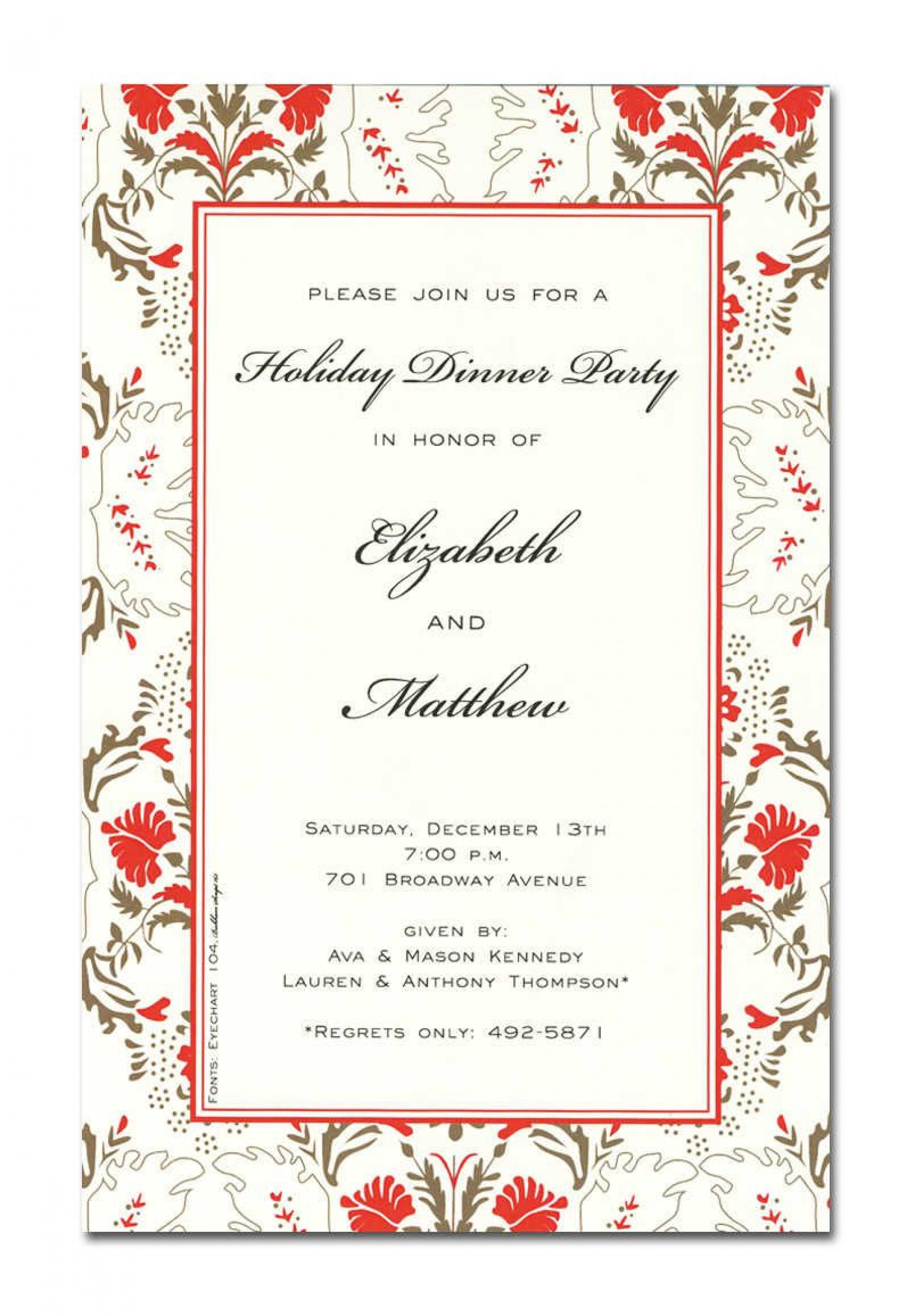 009 Outstanding Holiday Open House Invitation Template High Def  Christma Free Printable Wording Idea1920