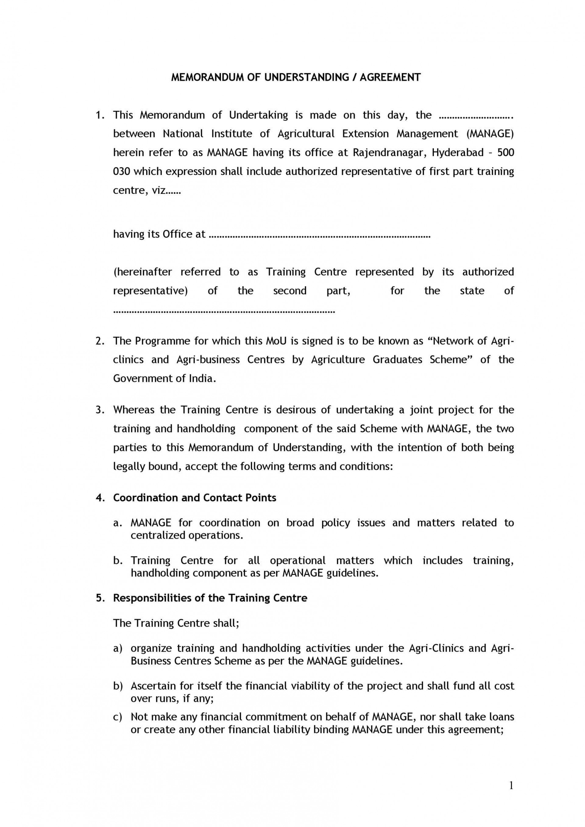 009 Outstanding Memorandum Of Agreement Template Highest Clarity  Templates Sample Tagalog South Africa Philippine Doc1920