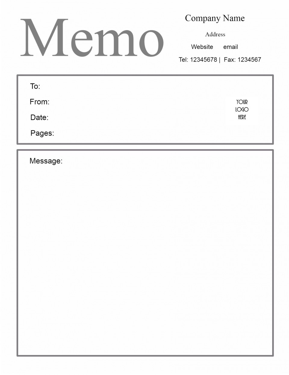 009 Outstanding Microsoft Word Memo Template High Definition  Professional 2010 Free Legal960
