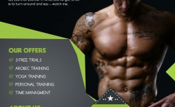 009 Outstanding Personal Trainer Flyer Template Inspiration  Word Psd