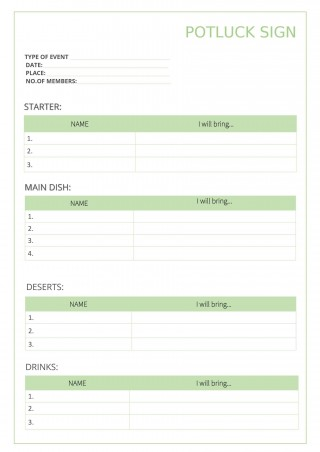 009 Outstanding Potluck Signup Sheet Template Word Photo  Microsoft Free Printable Sign Up320