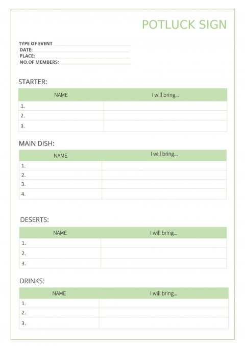 009 Outstanding Potluck Signup Sheet Template Word Photo  Microsoft Free Printable Sign Up480