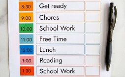 009 Outstanding Printable Daily Schedule Template Inspiration