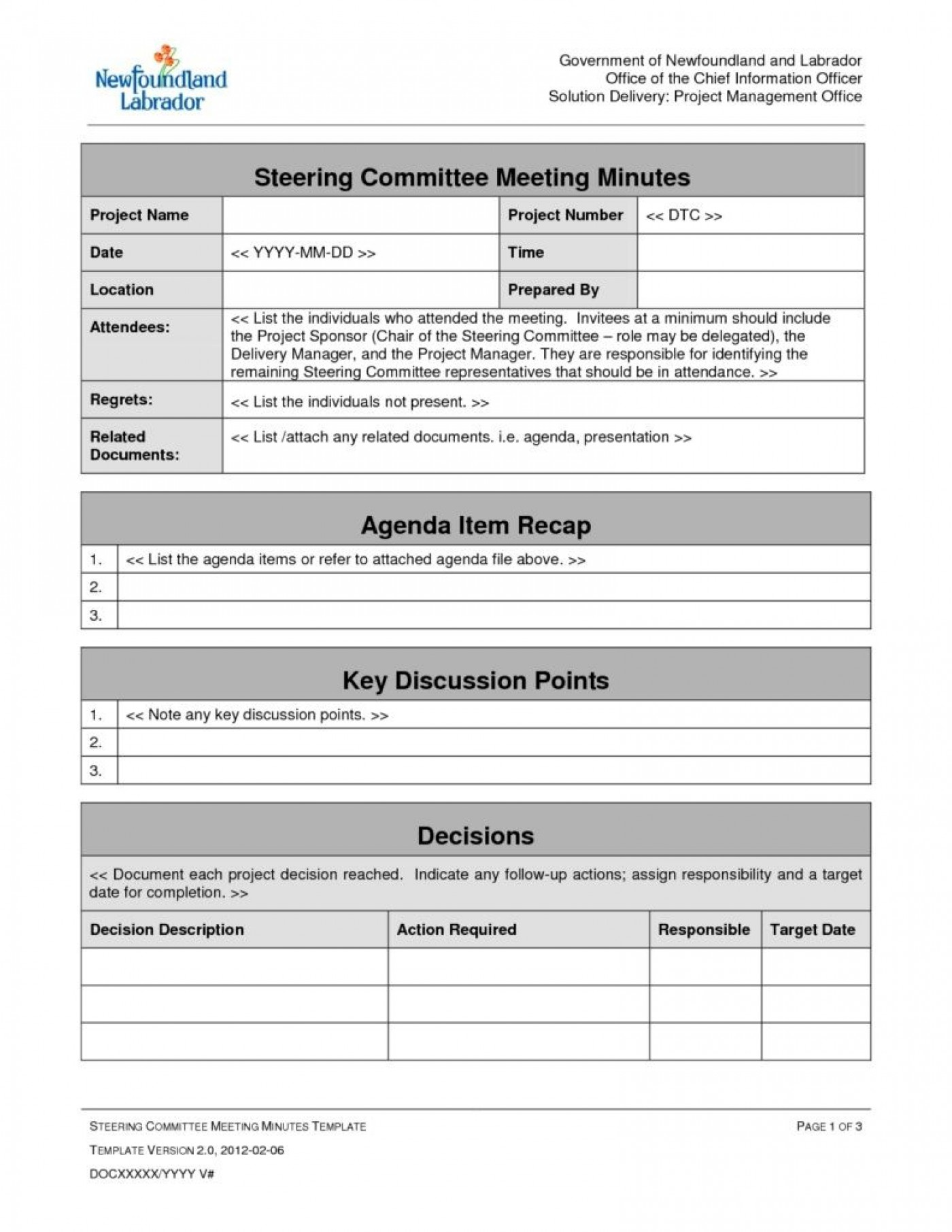 009 Outstanding Project Management Kickoff Meeting Agenda Template Image 1400