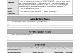 009 Outstanding Project Management Kickoff Meeting Agenda Template Image