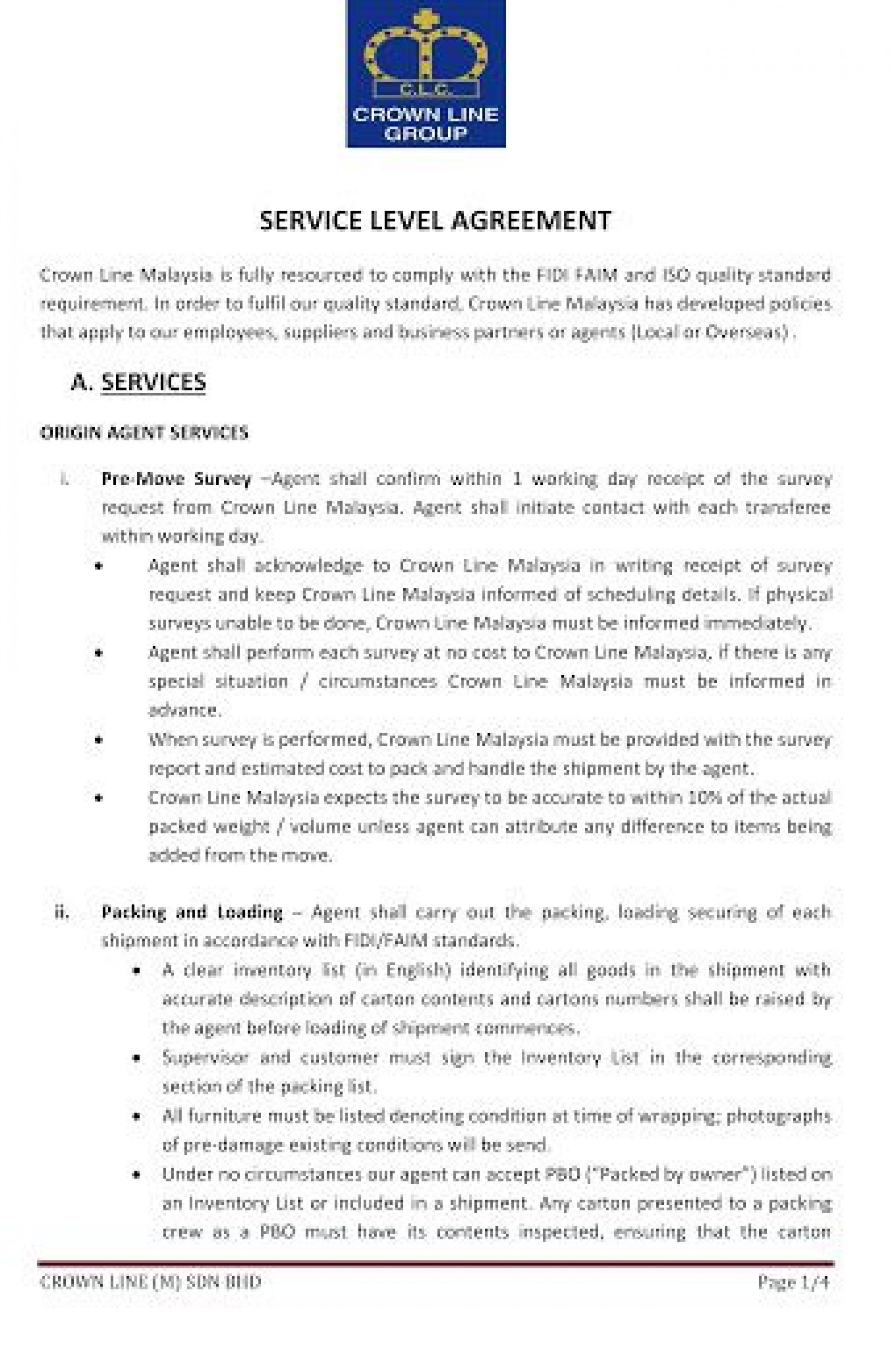 009 Outstanding Service Level Agreement Template Photo  South Africa Nz For Website Development1920