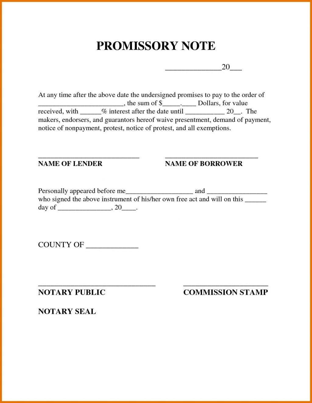 009 Outstanding Simple Promissory Note Template Image  Form Sample Format Of In IndiaLarge