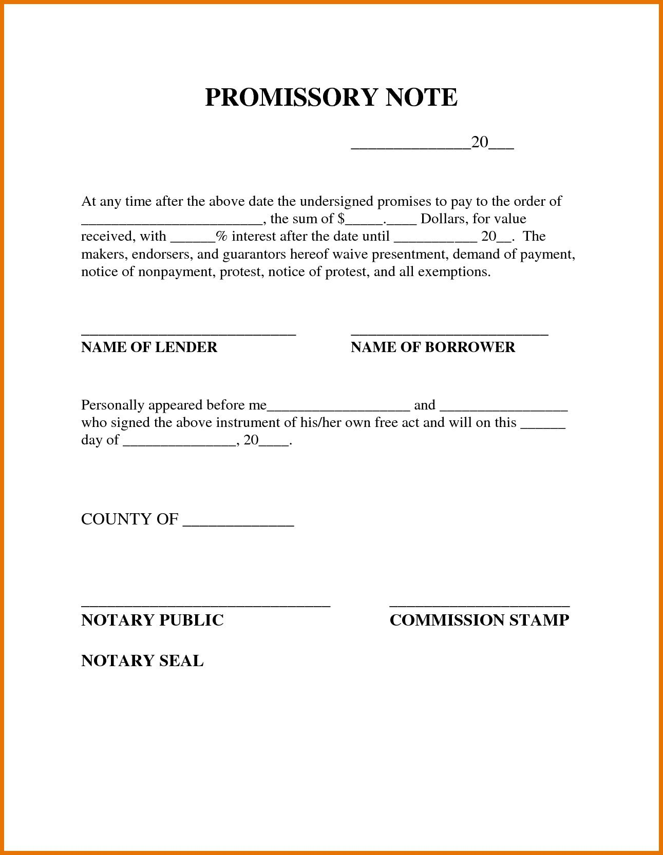 009 Outstanding Simple Promissory Note Template Image  Form Sample Format Of In IndiaFull