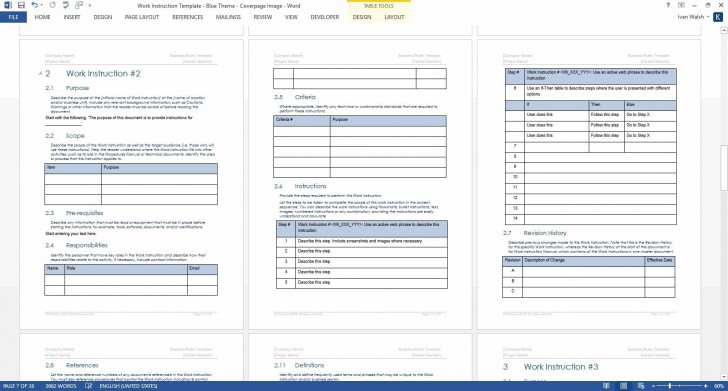 009 Outstanding Step By Instruction Template Image  Proces Work Microsoft Word Excel728