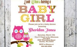 009 Phenomenal Baby Shower Template Girl Photo  Nautical Invitation Free For Word