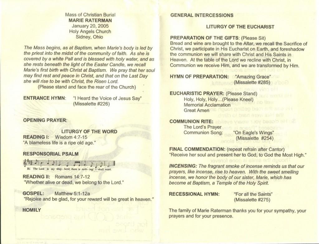 009 Phenomenal Catholic Funeral Program Template Photo  Mas Layout FreeLarge
