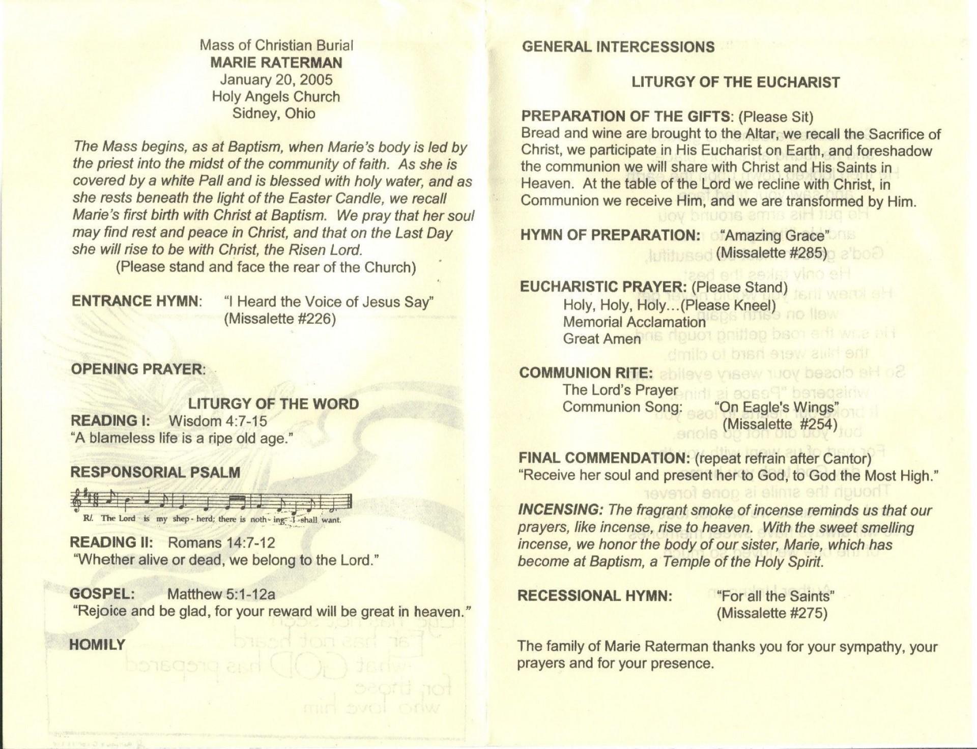 009 Phenomenal Catholic Funeral Program Template Photo  Mas Layout Free1920