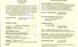 009 Phenomenal Catholic Funeral Program Template Photo  Mas Layout Free