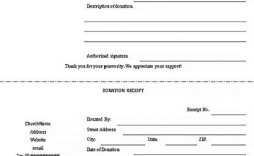 009 Phenomenal Charitable Tax Receipt Template Sample  Donation