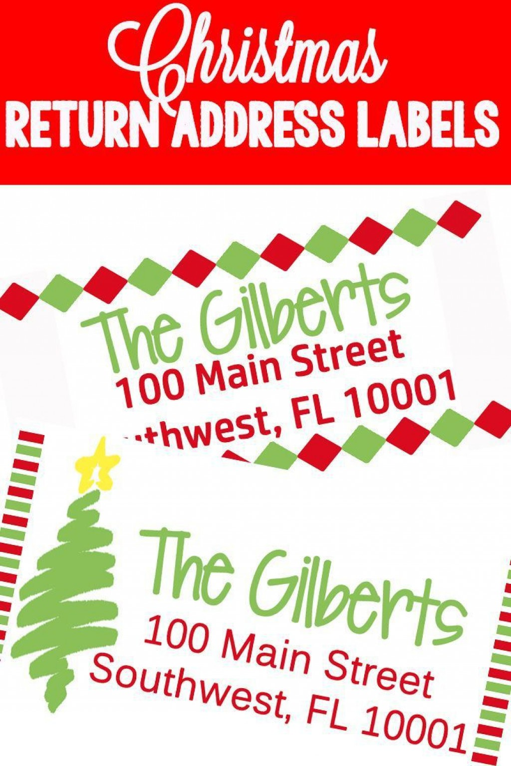 009 Phenomenal Christma Mailing Label Template High Resolution  Addres Free Download ReturnLarge