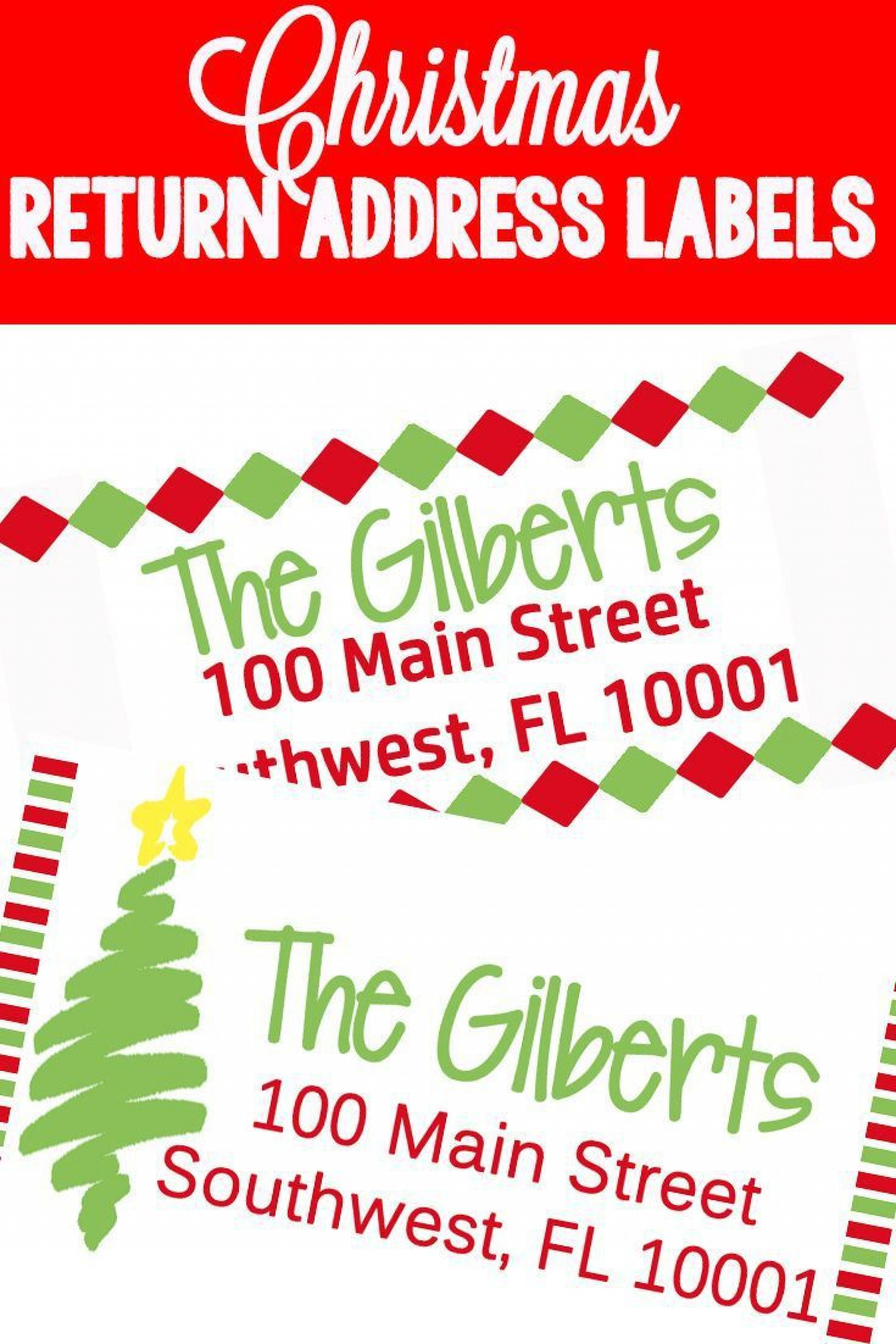009 Phenomenal Christma Mailing Label Template High Resolution  Addres Free Download Return1920