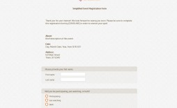 009 Phenomenal Event Registration Form Template High Resolution  Word Excel Microsoft