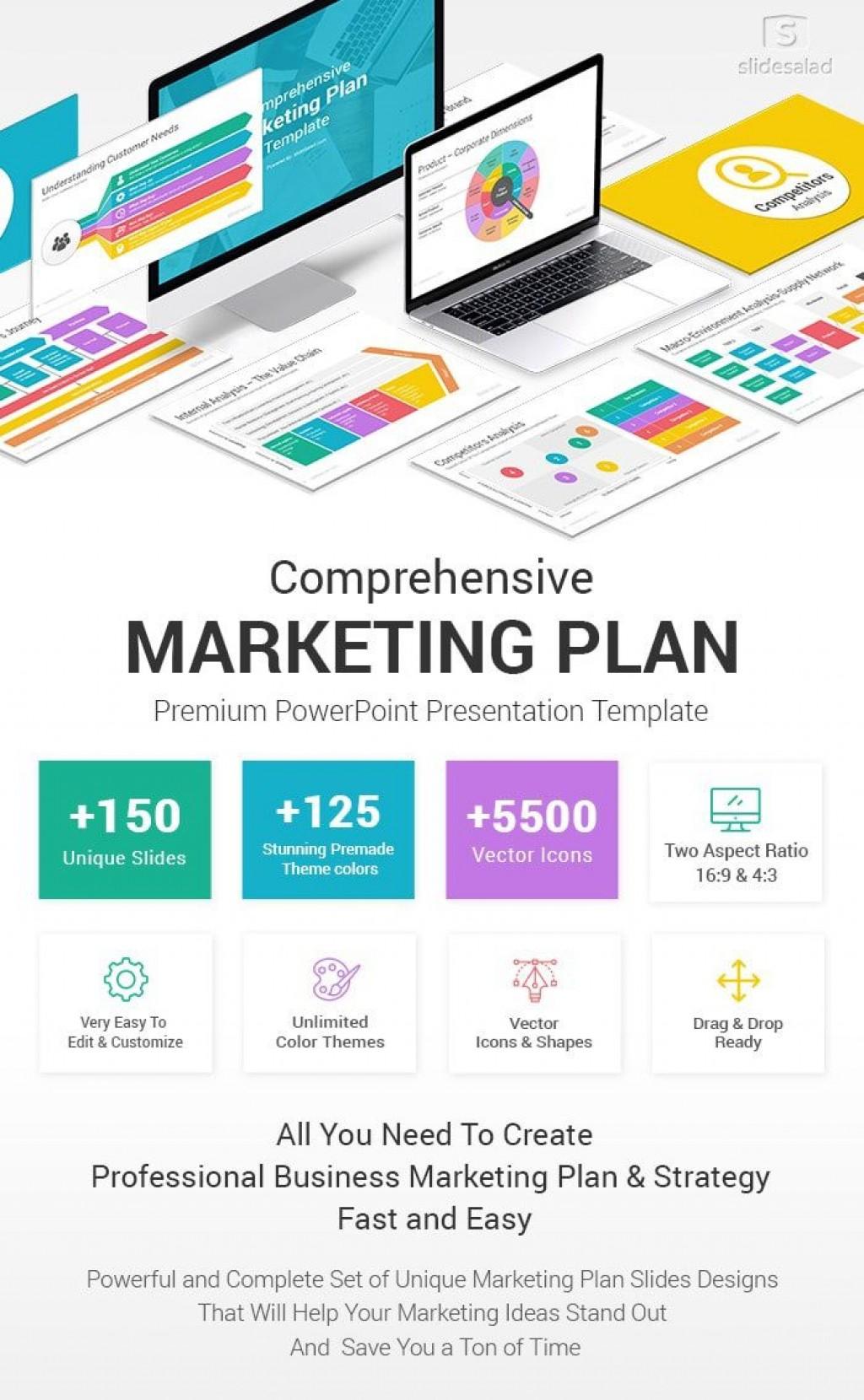 009 Phenomenal Free Digital Marketing Plan Template Ppt Sample Large